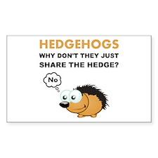 Hedgehog Share Decal
