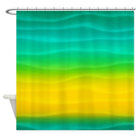 Blue And Yellow Sand Dunes Shower Curtain By Cuteprints