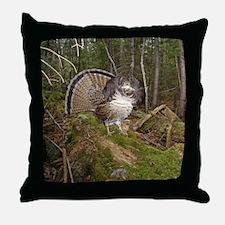Strutting Grouse Throw Pillow