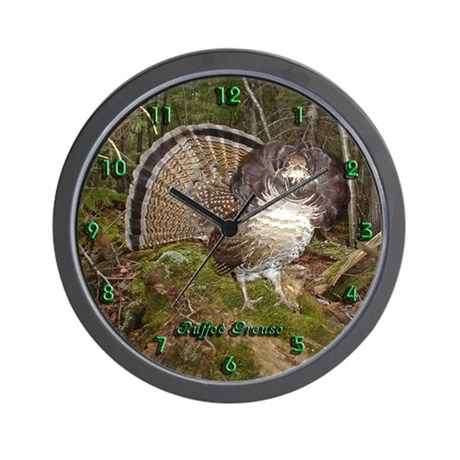 Strutting Grouse Wall Clock