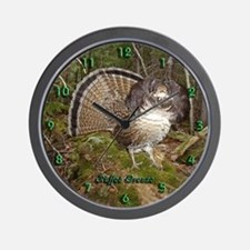 Strutting Grouse Wall Clock