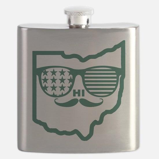 Cute Ohio bobcats Flask