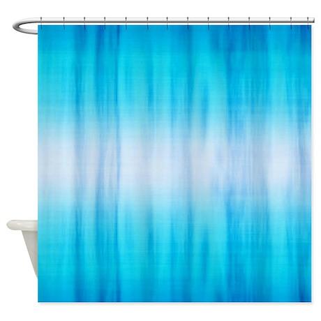 Ocean Blue Fabric Shower Curtain by CutePrints