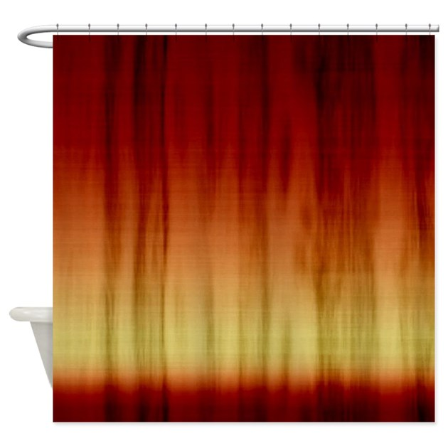 Dark Red Fabric Shower Curtain By CutePrints