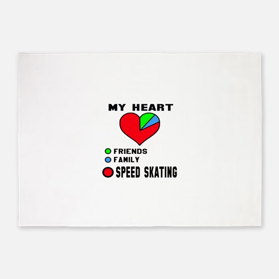 My Heart Friends, Family and Speed 5'x7'Area Rug