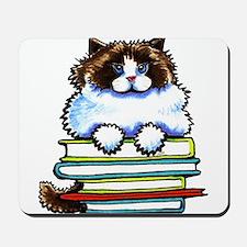 Ragdoll Cat Books Mousepad