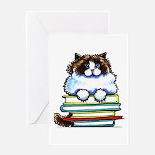 Ragdoll Cat Books Greeting Cards