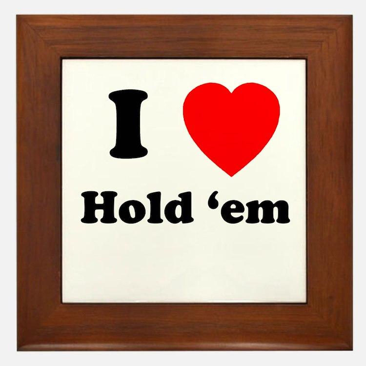 Hold 'Em Framed Tile