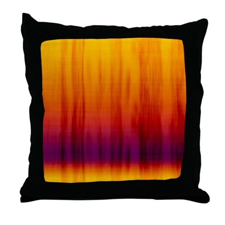 Orange and purple fabric throw pillow by cuteprints - Fabric for throw pillows ...