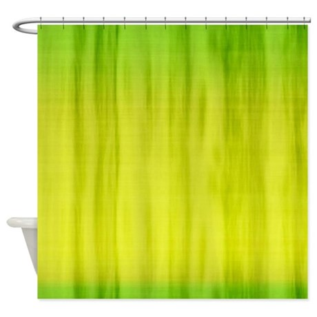 Lime Green Fabric Shower Curtain By Cuteprints