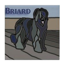 Cute Briard Tile Coaster