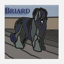 Cute Briards Tile Coaster