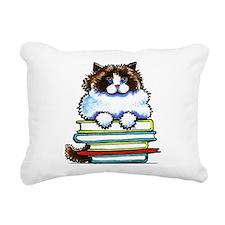 Ragdoll Cat Books Rectangular Canvas Pillow