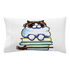 Ragdoll Cat Books Pillow Case