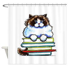 Ragdoll Cat Books Shower Curtain