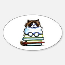 Ragdoll Cat Books Decal