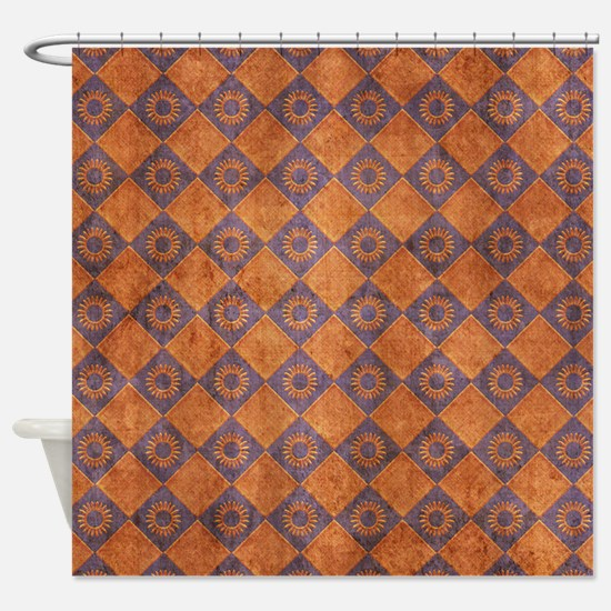 Rust Color Shower Curtains Rust Color Fabric Shower