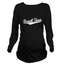 Bryant Town, Retro, Long Sleeve Maternity T-Shirt