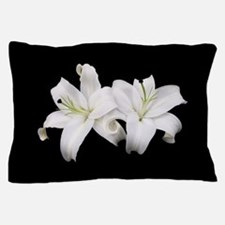 White Lilies Pillow Case