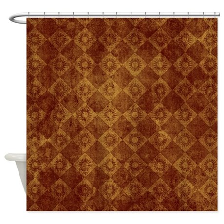 Bronze Grunge Sunflower Wallpaper Shower Curtain