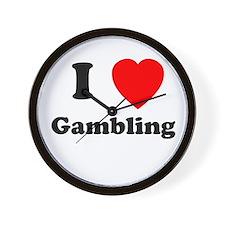 Gambling Wall Clock