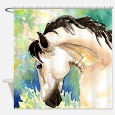 Spring Horse Shower Curtain
