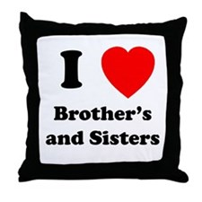 Bother's and Sisters Throw Pillow