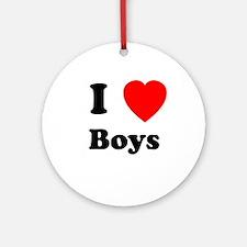 Boys Ornament (Round)