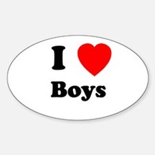 Boys Oval Decal