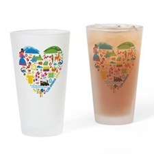 Colombia World Cup 2014 Heart Drinking Glass