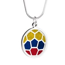 Colombia World Cup 2014 Silver Round Necklace