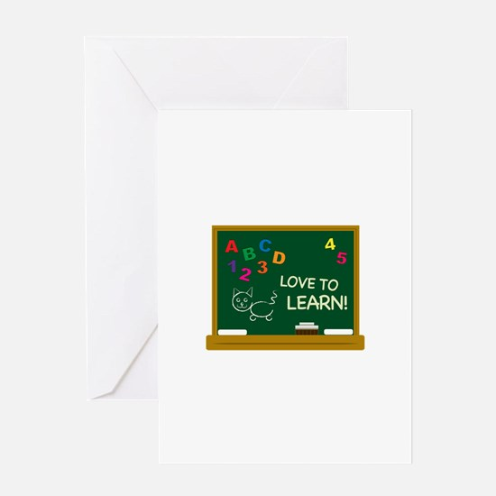 Love To Learn! Greeting Cards