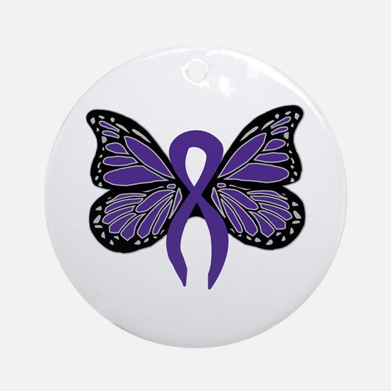 Relay For Life - Purple Ribbo Ornament (Round)
