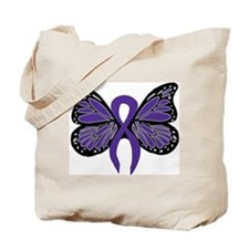 Relay For Life - Purple Ribbo Tote Bag