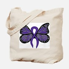 Relay For Life - Purple Ribbo Tote Bag