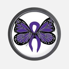 Relay For Life - Purple Ribbo Wall Clock