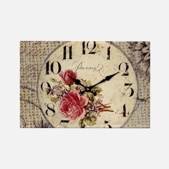 vintage paris clock french fashion decor Magnets