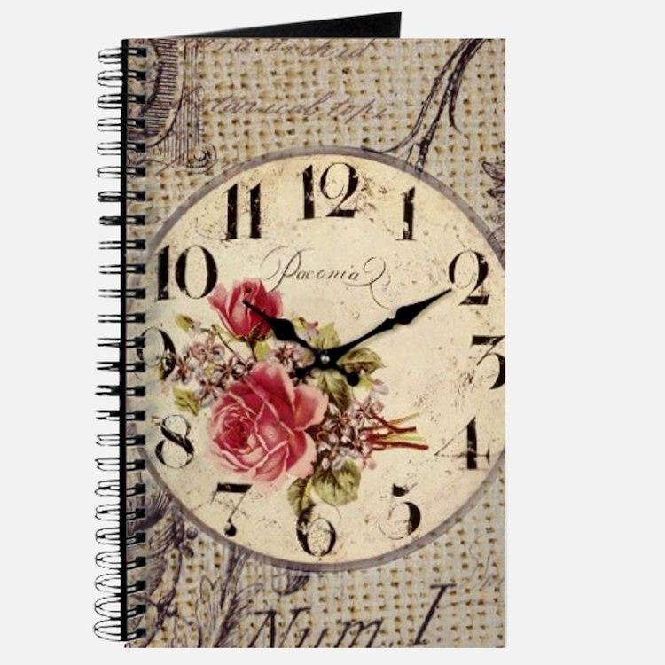 vintage paris clock french fashion decor Journal
