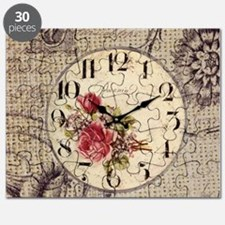 vintage paris clock french fashion decor Puzzle