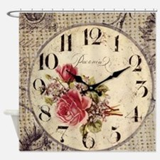 vintage paris clock french fashion decor Shower Cu