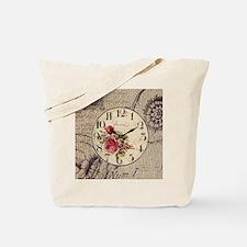 vintage paris clock french fashion decor Tote Bag