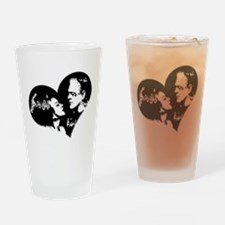 Frank and his Bride Drinking Glass