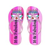16th birthday for girl Flip Flops