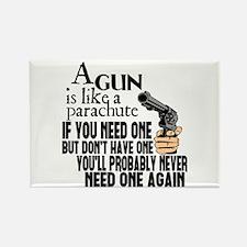 A Gun Is Like a Parachute Rectangle Magnet