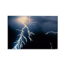 Lightning Strike Rectangle Magnet