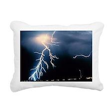 Lightning Strike Rectangular Canvas Pillow