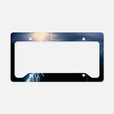 Lightning Strike License Plate Holder