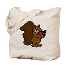 Shy Squirrel with Acorn Tote Bag