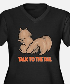 Talk to the Tail Squirrel Women's Plus Size V-Neck