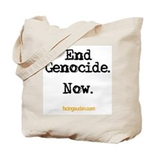 End Genocide Tote Bag